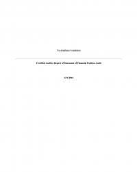 Certified Auditor Report of Statement of Financial Position Audit 2016
